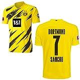 PUMA Borussia Dortmund BVB Heimtrikot 2020 2021 Home Trikot Sponsor BL Logo Kinder Jadon Malik Sancho 7 Gr 176