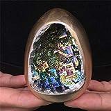 Collectible Crystals,Rainbow Bismuth Ore Egg Quartz Crystal Geode Mineral Specimen Reiki Healing 1Pc