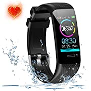 Beaulyn Fitness Tracker Activity trackers Watch with Heart Rate Monitor, Waterproof Smart Bracelet Band with Step Counter,Calorie Counter,Pedometer for Men Women Kids
