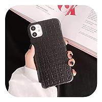 Jinyy iphone 11 pro max 7g 8g plus xxsファッション携帯電話保護ケース用の高級デザイン携帯電話ケース裏表紙-BLACK-for 7 8g