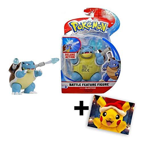 Lively Moments Pokemon Battle Pack Actionfigur & Funktion Spielfigur / Sammelfigur Alola Erweiterung Turtok / Blastoise + GRATIS Grußkarte