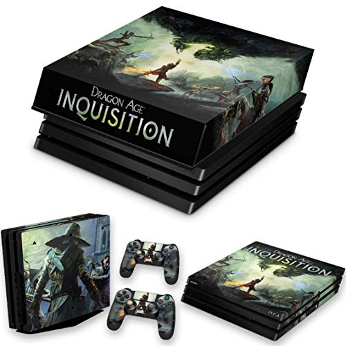 Capa Anti Poeira e Skin para PS4 Pro - Dragon Age Inquisition
