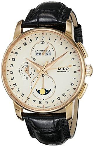 MIDO Reloj Multiesfera para Hombres de Automático con Correa en Cuero M8607.3.M1.42