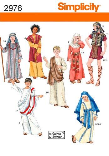 Simplicity Schnittmuster 2976A Boy und Girl Kostüme