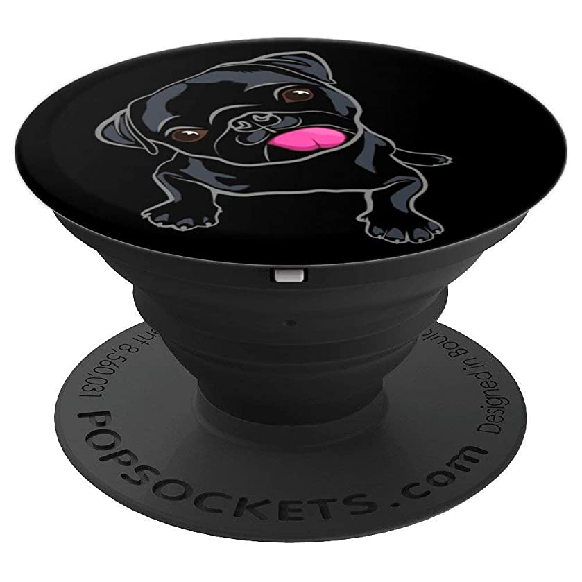 Black Pug Lover Pop Socket - PopSockets Grip and Stand for Phones and Tablets