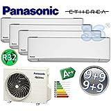 Climatizzatore quadri split ETHEREA R32 Panasonic serie Z - 9000+9000+9000+9000 btu A++ con funzione WIFI