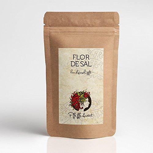 Pfefferbraut Flor de Sal Algarve 200g Salzblumen im Aromaschutzbeutel, unraffiniertes und naturbelassenes Fleur de Sel Gourmetsalz