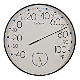 "La Crosse Technology T88495 10"" Round in/Out Wall Thermometer"