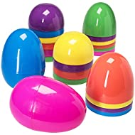 Jumbo 12 Piece Assorted Solid Colors Giant Easter Eggs - 7 Inches Tall