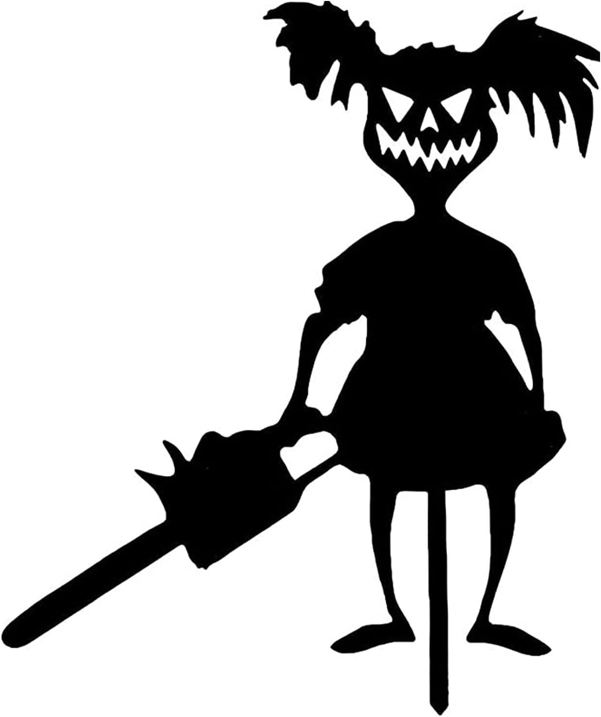 Silueta Arte Metal, Diseño de Zombis Fantasmas Halloween, Estacas de Metal para Jardín, para Macetas de Césped, Decoración de Letreros de Patio