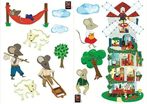Décoration adhésive 157158 Le Moulin des Souris, Polyvinyle, Multicolore, 21 x 0,1 x 29,6 cm
