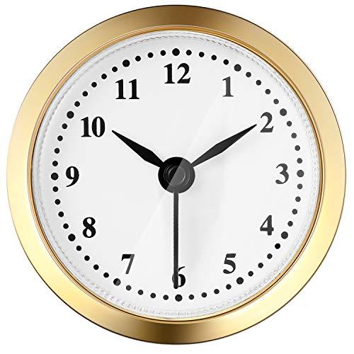 2,4 Zoll (61 mm) Quarz Uhr Batterie Fit-up Insert mit Arabischen Ziffer, Quarzwerk (Gold Rim)