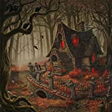 Ouniman Halloween 5D Diamond Painting Kits Full Drill,Scary Haunted House Forest Rhinestone Painting Sets Large Embroidery Cross Stitch for Adults Art Craft Home Wall Decor,15.7x15.7 inch (Multicolor)