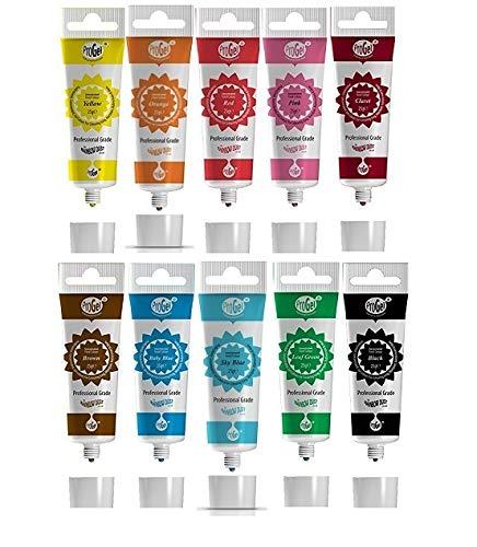 Rainbow Dust ProGel Professionelle Lebensmittelfarbe Gelfarbe - Lieblingsfarben 10 Farben