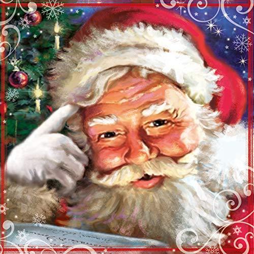 Carte Blanche - Tarjeta de felicitación de Navidad (3D, diseño de Papá Noel, color rosa