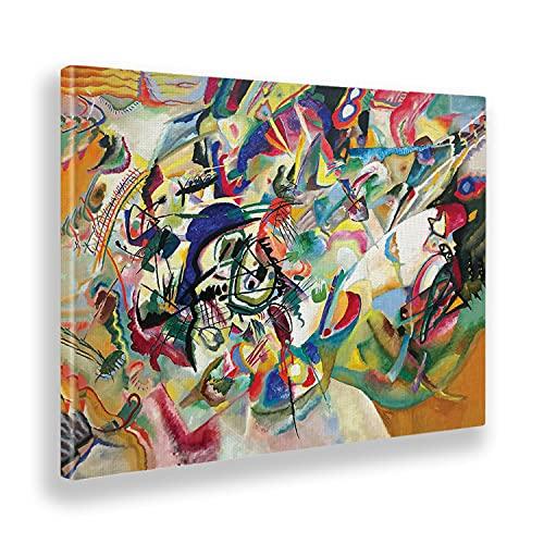 Giallobus - Pinturas - Vassily Kandinsky - Composición No. 7 - Lienzo - 100x70 - Listo para Colgar - Cuadros Modernos para el hogar