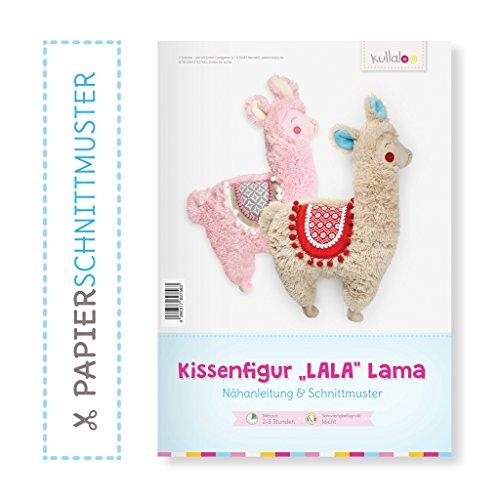 kullaloo Lama nähen mit Papierschnittmuster LALA Lama Kissenfigur
