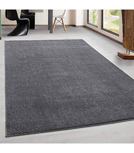 Teppich Kurzflor Modern Wohnzimmer Einfarbig Meliert Uni günstig Versch. Farben - Hellgrau, 280x370 cm