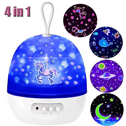 Star Night Light for Kids,Starlight Projector,Morovigo Ocean Carousel Universe Moon Universe Night Light Projection, Birthday New Projector lamp for Christmas,Holiday