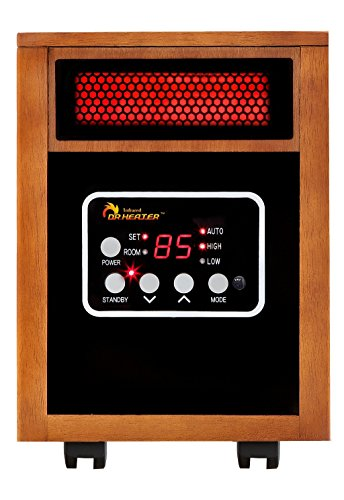 Dr Infrared Heater Portable Space Heater, 1500-Watt (Renewed) Heater Portable Space