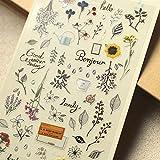 BLOUR Pegatinas de planificador de jardín Secreto, Adhesivo Decorativo de Bricolaje para álbumes de Recortes, calendarios, Artes, Manualidades para niños, álbumes, Diarios de Balas