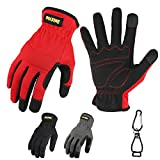 High Performance Work Gloves For Men(3 Pairs Pack), High Dexterity Touch Screen For Multipurpose,Excellent Grip (Medium)