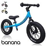 Banana GT – Laufrad 12 Zoll Lauflernrad Kinderrad für Jungen und Mädchen Kinder 2, 3, 4 und 5 Jahre (Blau)