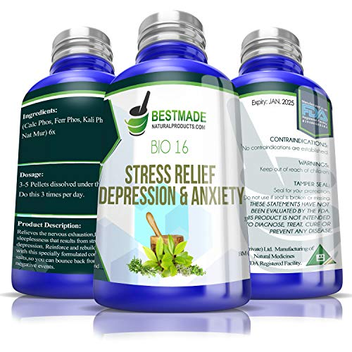Stress Relief Depression and Anxiety Natural Remedy (Bio16)