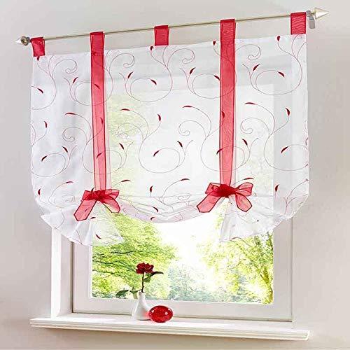 cortinas cocina cortas para ventanas
