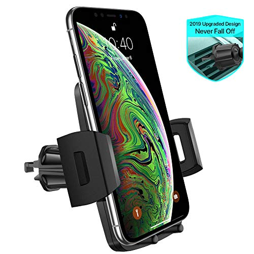Air Vent Car Phone Mount,Miracase Universal Vehicle Cell Phone Holder for Car with 360 Degrees Rotation Compatible for iPhone Xs/Xs Max/XR/X/8/8 Plus/7/7 Plus, Galaxy S10/S10+/S9/S9+ and More (Black)
