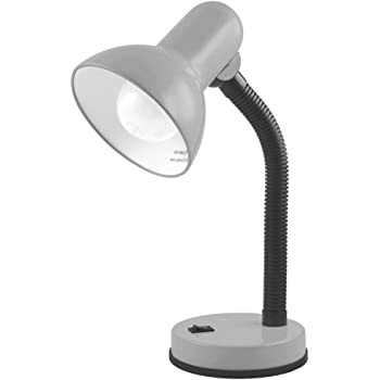 Lloytron 35w Classic Flexi Desk Lamp With Versatile Flexible Neck Integral On Off Switch Approx 34cm Height L958sv Silver Amazon Co Uk Lighting