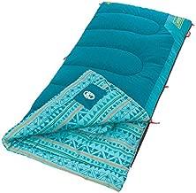 Coleman Kids Sleeping Bag   50°F Sleeping Bag for Kids   Cool Weather Sleeping Bag, Teal