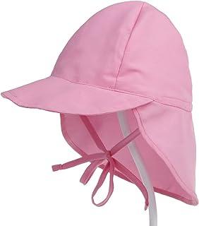 Bebé Sombrero para el sol para niños Protección Uv para la cabeza Pescador Gorra Playa de verano Actividad de juego al aire libre Colorido Ajustable 6-18 meses y 2-5 años Unisex
