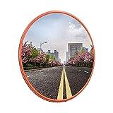 F.L.S Espejo de Tráfico Convexo de Seguridad El tráfico Exterior Gran Angular, Exterior Nudo de Seguridad del Tráfico en Espejo Parking subterráneo Inversión de Material PC Espejo (Size : 80cm)