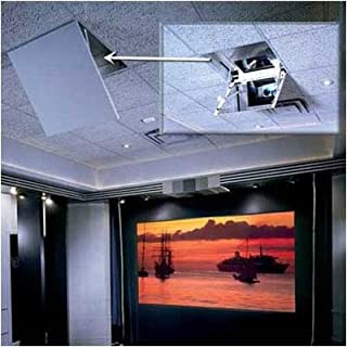 Revelation Motorized Ceiling-Recessed Projector Mount Style: Model A, Plenum: None