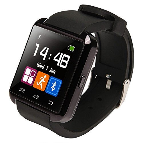 Ruichenxi ® U8 Bluetooth Smart Watch Inteligente Reloj Teléfono Compañero para Android iOS iPhone Samsung Galaxy HTC,Sony (Negro)