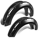 Replacement for 04-08 Ford F150 Pick Up Textured Pocket-Riveted Style Side Wheel Fender Flares (Black)