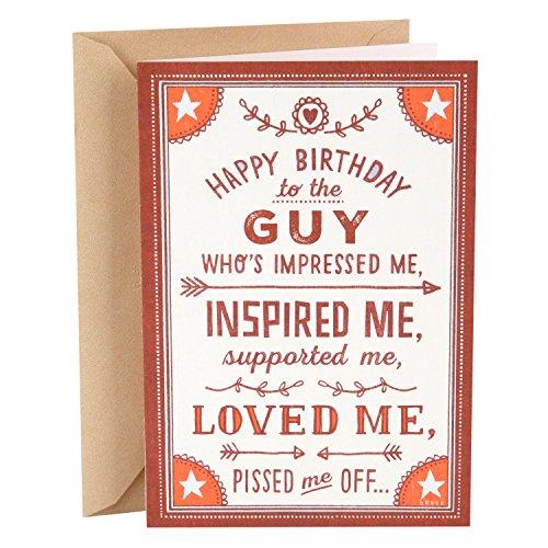 Hallmark Shoebox Funny Birthday Card for Husband (Loved Me)