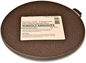 Sungold Abrasives 336091 150 Grit 6-Inch X-Weight Cloth Premium Industrial Aluminum Oxide PSA Stick-On Discs For Stationary Sanders, 10 Discs/Pack by Sungold Abrasives