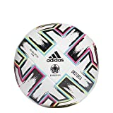adidas Men's UNIFO TRN Soccer Ball, White/Black/Signal Green/Bright Cyan, 5
