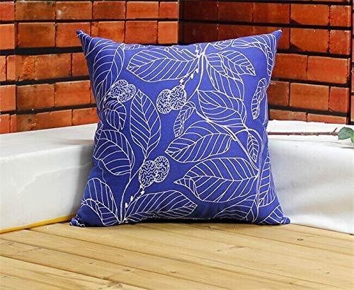 LEV Cushion - 60x60 Leaf Trow Pillow 100% Cotton Art/Dummy/Artistic/Home/Office/Sofa/Car Decor Cushion Pillowcase - by 1 PCs
