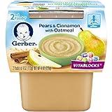 Gerber+Baby+Food%2c+2nd+Foods%2c+Pears+%26+Cinnamon+With+Oatmeal%2c+8+OZ