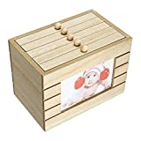 FEDBNET - Caja de madera para 6 recuerdos, caja de madera, álbum, caja de tesoros, caja de regalo, para fotos de 15 cm, capacidad para 100 almacenamiento de 100 fotos, diseño vintage