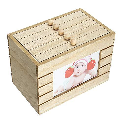 Caja de madera para álbum de fotos de recuerdos, estilo retro, para regalo, 100 fotos, estilo vintage, 15 cm