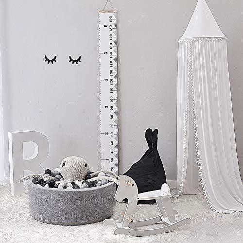 CWJCZY Katoenen Baby Kamer Decoratie Ballen Klamboe Kids Bed Gordijn Luifel Ronde wieg Netting Tent Fotografie Props Baldachin 245 Cm
