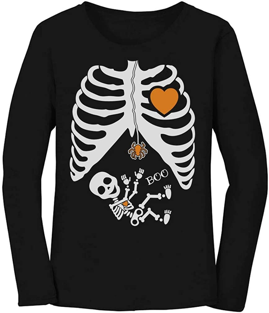 Halloween Pregnant Skeleton Xray Rib-cage Soccer Player Baby Maternity Tank Top