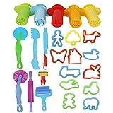 Outtybrave Juegos Kits 20pcs Herramientas de Plastilina Inteligentes con extrusión 5pcs (Color al Azar)