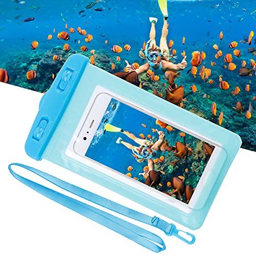 Bolsa para teléfono Deportes acuáticos, Bolsa para teléfono con Cuerda Colgante para teléfonos Inteligentes(Blue)