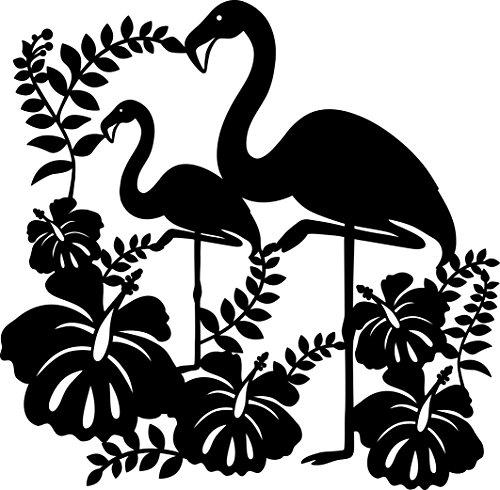 Marabu 0289000000005 - Silhouette Schablone, Ergebnisse mit Negativ - Effekt, PVC frei, wieder verwendbar, zum Sprühen und Spachteln mit Textil- und Acrylfarbe, ca. 30 x 30 cm, Flamingo