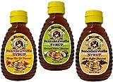 6. Hula Girl Pancake and Waffle Syrup 250grams / 3 bottles Mixed (Mango Macadamia Nut, Coconut Creme & Kona Coffee)